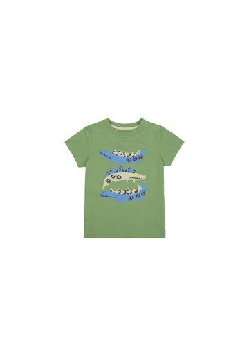 Mothercare   Boys Half Sleeves T-Shirt Crocodile Print - Khaki