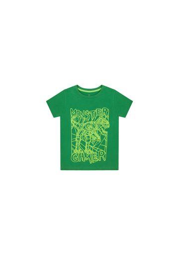 Mothercare   Boys Half Sleeves T-Shirt Dino And Text Print - Green