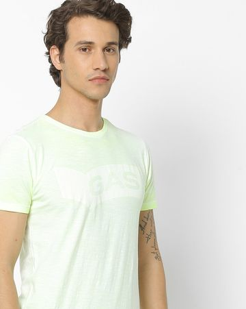 GAS | Men's Scuba/S Neon Chest Branding T-Shirts