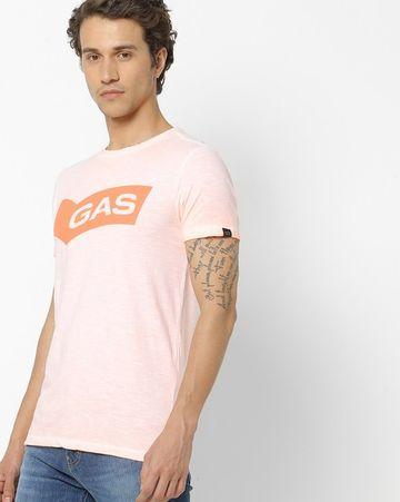 GAS | Men's Scuba/S Neon Chest Branding T-Shirts