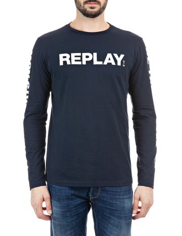 REPLAY | Dark Blue.... basic jersey T Shirt