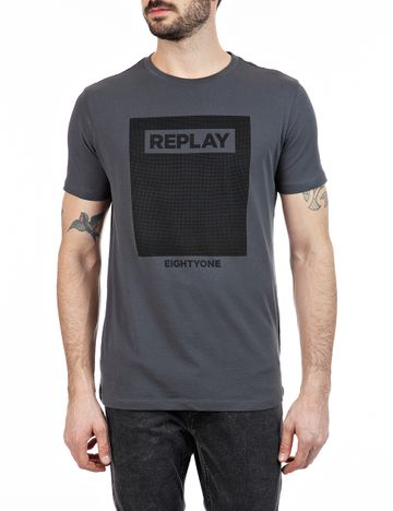 REPLAY | Cold Grey fine cotton jersey T Shirt