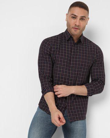 GAS   Men's Sir Det Ec In Slim Fit Checkered shirt