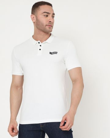 GAS | Men's Ralph Emb Ec In Slim Fit Solid Polo