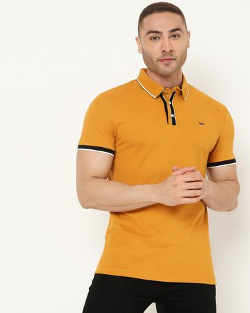 GAS | Men's Agap Ec In Slim Fit Solid Polo