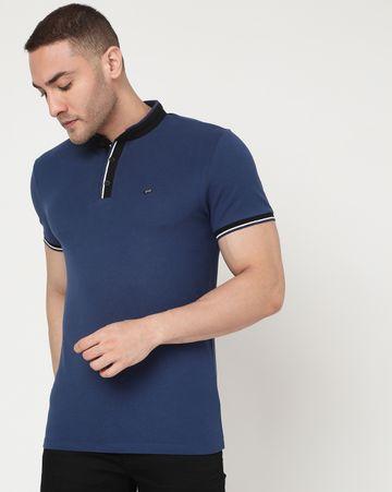 GAS | Men's Luke Tip Ec In Slim Fit Solid Polo