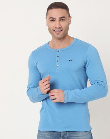 GAS | Men's Kazuki Ec In Slim Fit Solid Tshirt