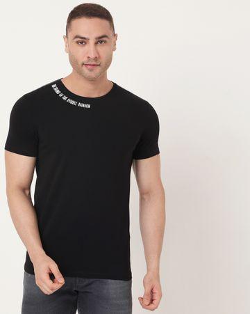 GAS | Men's Scuba Neck Ec In Slim Fit Solid Tshirt