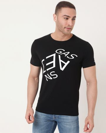 GAS | Men's Scuba Angle Ec In Slim Fit Printed Tshirt