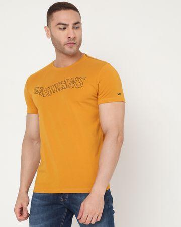 GAS | Men's Scuba Shape Ec In Slim Fit Printed Tshirt