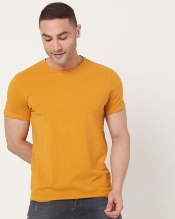 GAS | Men's Scuba Basic Ec In Slim Fit Solid Tshirt