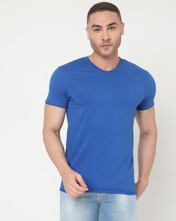 GAS | Men's Scuba V Basic Ec In Slim Fit Solid Tshirt
