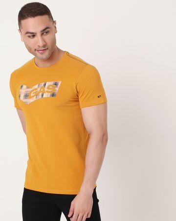 GAS | Men's Scuba Check Ec In Slim Fit Printed Tshirt