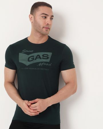 GAS | Men's Scuba Tone Ec In Slim Fit Printed Tshirt
