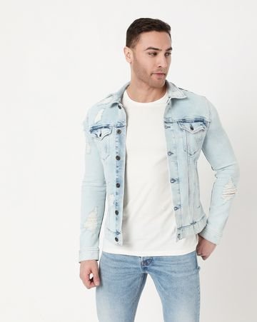 GAS | Men's Oklahoma Ec L In Collared Denim Jacket