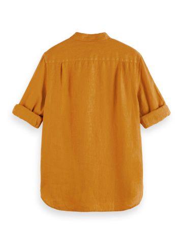 Scotch & Soda | REGULAR FIT- Garment-dyed linen shirt with sleeve roll-up