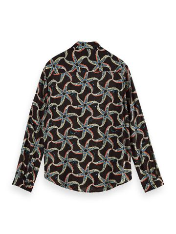Scotch & Soda   RELAXED FIT- Viscose all-over printed shirt