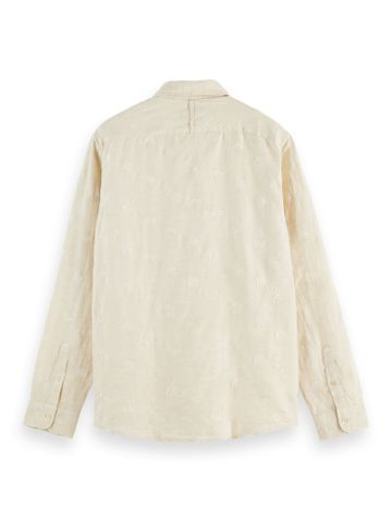 Scotch & Soda | RELAXED FIT- Embroidered organic cotton blend shirt