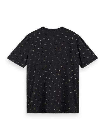 Scotch & Soda   Classic cotton-elastane crewneck t-shirt