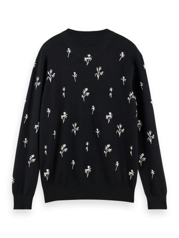 Scotch & Soda | Crewneck pull with all-over jacquard pattern