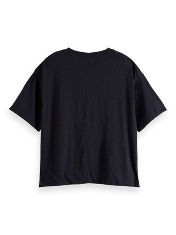 Scotch & Soda   Classic linen blend tee with small print