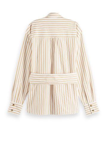 Scotch & Soda | Structured stripe shirt in cupro blend