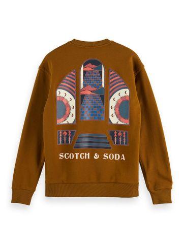 Scotch & Soda | ORGANIC COTTON BLEND FELPA CREWNECK
