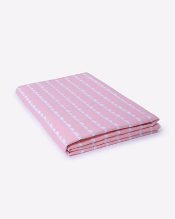 Mothercare | Mila Baby Pink Wave Flat Sheet