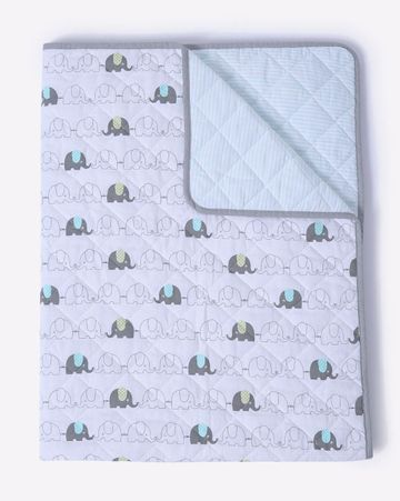 Mothercare | Mila Baby Elephant Quilted blanket (Large)