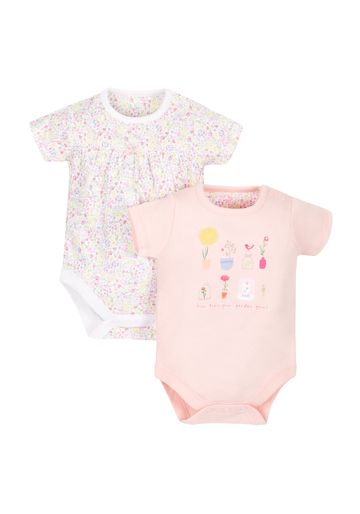 Mothercare | Girls Floral Bodysuits - Pack Of 2 - Multicolor