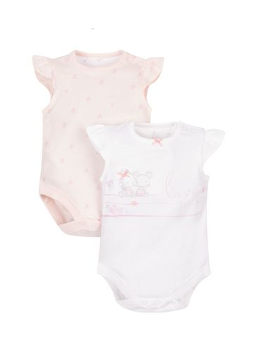 Mothercare | Girls Little Mouse Bodysuits - 2 Pack - Pink