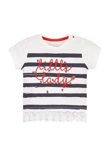 Mothercare | Girls Little Lady T-Shirt - White