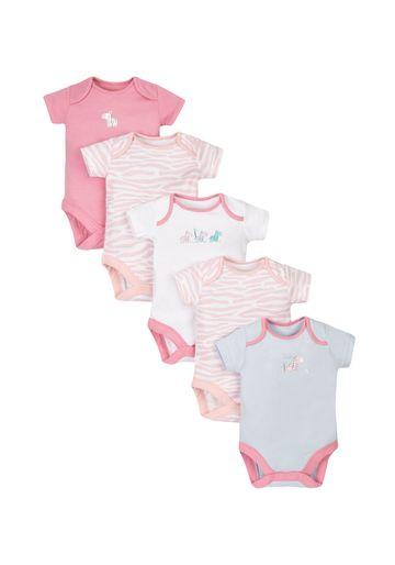 Mothercare   Novelty Zebra Bodysuits - 5 Pack