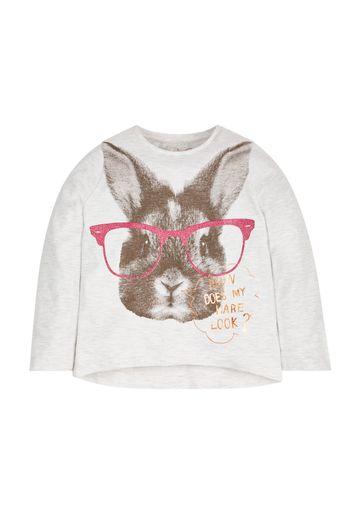 Mothercare | Girls Bunny T-Shirt  - White