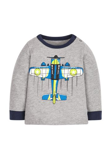 Mothercare | Boys Plane T-Shirt - Grey