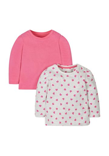 Mothercare | Grey And Pink Heart T-Shirts - 2 Pack