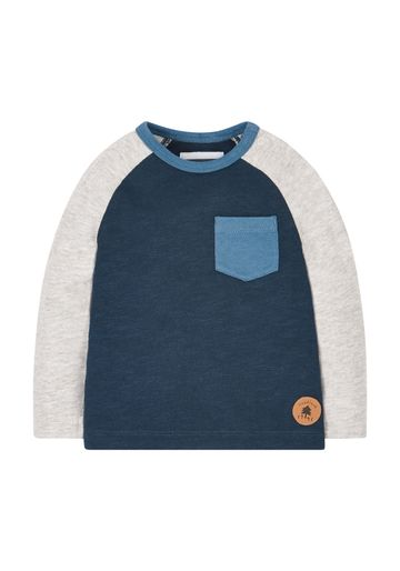 Mothercare | Navy And Grey Raglan T-Shirt
