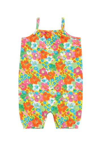 Mothercare | Girls Floral Jumpsuit - Yellow
