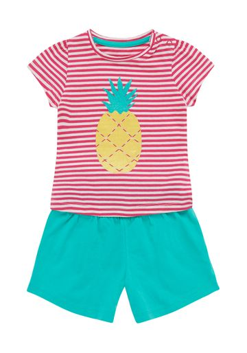 Mothercare | Girls Pineapple T-Shirt And Shorts Set - Pink