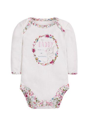 Mothercare   Girls Beautiful Bunny Bodysuit - Cream