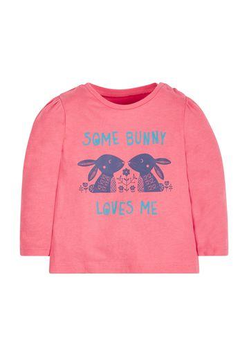 Mothercare | Girls Bunny T-Shirt - Pink