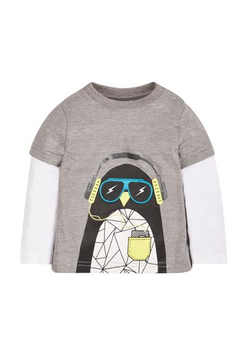 Mothercare | Boys Penguin T-Shirt - Grey