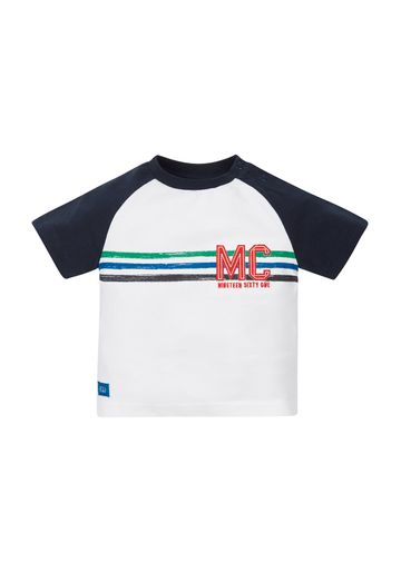 Mothercare | Boys Stripe Raglan T-Shirt - White