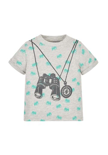 Mothercare | Boys Binoculars And Compass T-Shirt - Grey