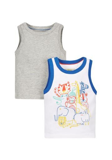 Mothercare | Boys Animal Vests - Pack Of 2 - Multicolor