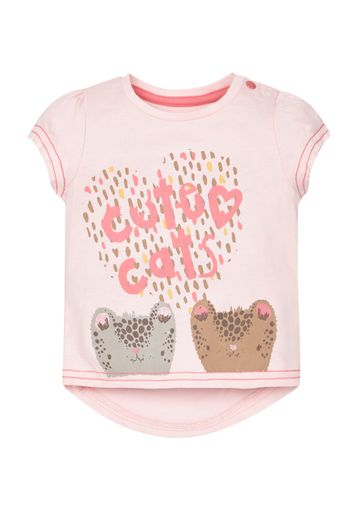 Mothercare | Girls Cute Cat T-Shirt - Pink