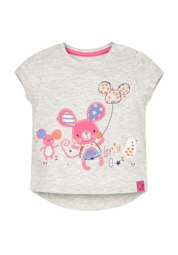 Mothercare | Girls Skating Mice T-Shirt - Grey