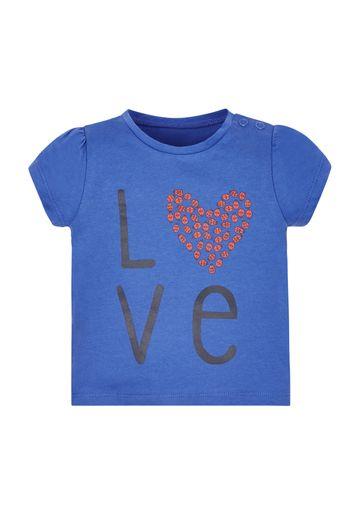 Mothercare | Girls Ladybird Love T-Shirt - Blue