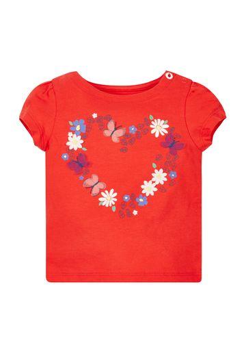 Mothercare | Girls Heart Print T-Shirt - Red