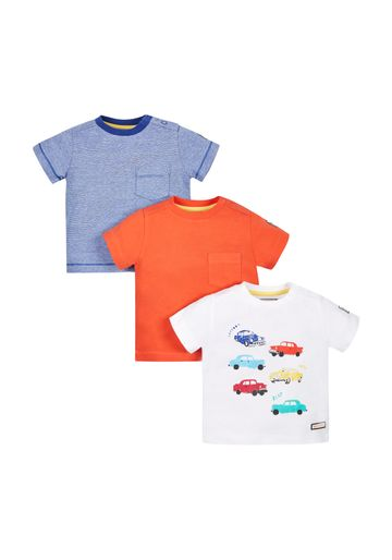 Mothercare | Boys Car T-Shirt - Pack Of 3 - Multicolor